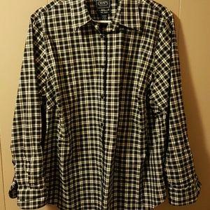 Chaps classic cotton no iron sz.1x blouse